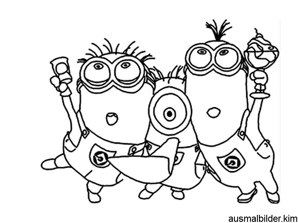 Carl minion coloring pages