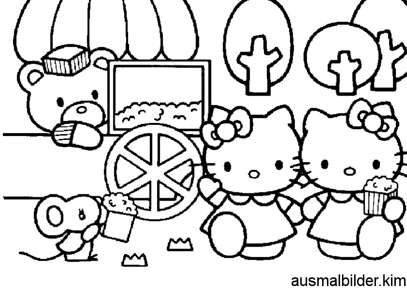 Ausmalbilder Hello Kitty » hello-kitty-ausmalbilder-09